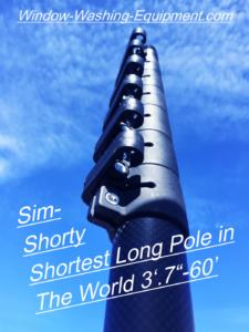 SimPole long 60ft waterfed pole